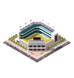 Isometric baseball arena vector