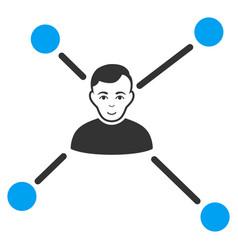 Man links icon vector