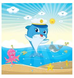 Of a dolphin vector