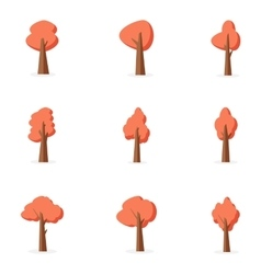 Orange tree set collection stock vector