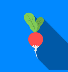radish icon flate singe vegetables icon from the vector image vector image