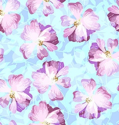 Seamless pattern with pastel pink roses vector