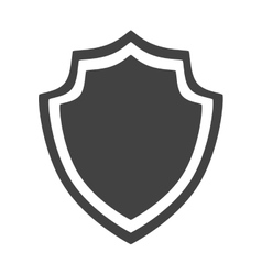 Shield protection insignia security badge icon vector
