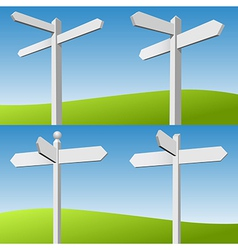 Sign Posts vector image vector image