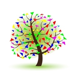 silhouette of a tree on a white background vector image vector image