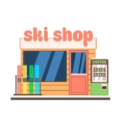Ski Shop Front vector image