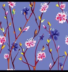 spring flower background vector image