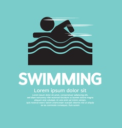 Swimming EPS10 vector image vector image
