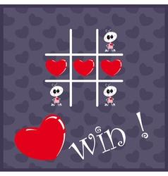 Tic Tac Toe Hearts vector image