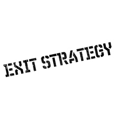 Exit strategy rubber stamp vector