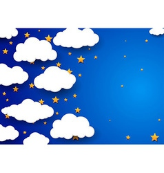 Night sky background - childish wallpaper vector image