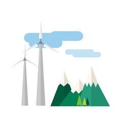 Power alternative energy and eco turbine wind vector