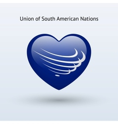 Love union of south american nations symbol vector