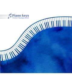 Piano keys watercolor background vector
