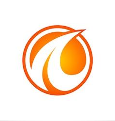 abstract logo A flame vector image