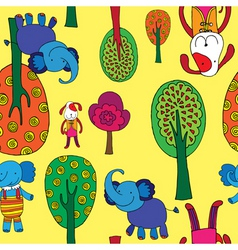 Animals pattern vector