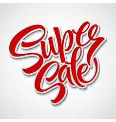 Super sale tag banner vector