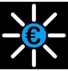 Distribution icon from bicolor euro banking set vector