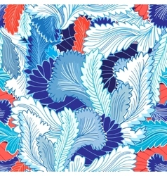 Winter patterns feathers vector