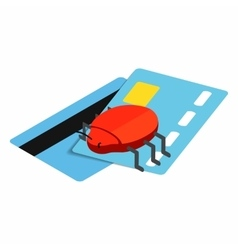 Credit card 3d isometric icon vector