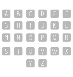 Gray hand drawn full alphabet vector