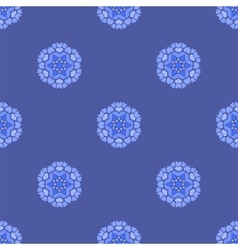 Creative ornamental seamless blue pattern vector