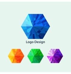 a hexagon logo vector image vector image