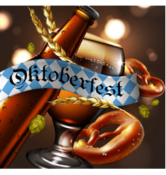 advertising traditional beer festival oktoberfest vector image vector image