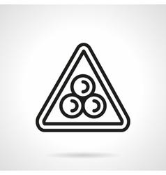 Billiard pyramid simple black line icon vector image vector image