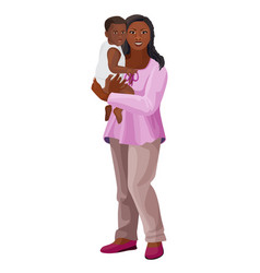 black woman with child on arms vector image