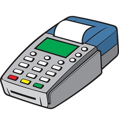 Credit card terminal vector image vector image