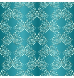 damask seamless with lace ornament vector image
