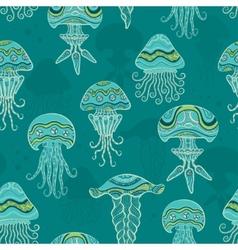 Decorative jellyfish in sea vector