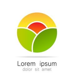 Ecological natural landscape logo template vector image