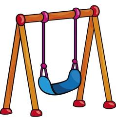 Garden swing cartoon vector