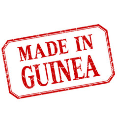 Guinea - made in red vintage isolated label vector