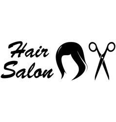 Hair salon icon on white backdrop vector