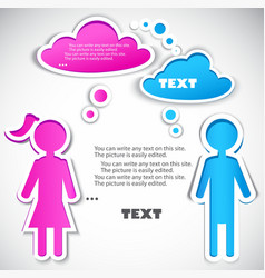male talking with female vector image