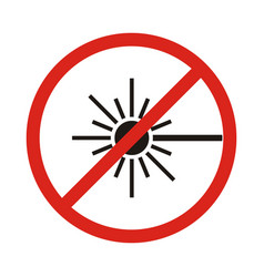 no laser sign vector image vector image