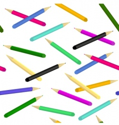 pencils seamless vector image vector image