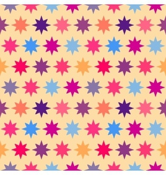 Retro colorful star seamless pattern vector
