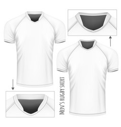 Rugby jersey with different vector
