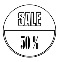 Sale sticker 50 percent off icon outline style vector image vector image