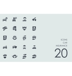 Set of car insurance icons vector