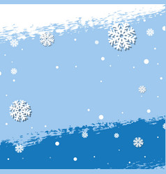 snow background vector image