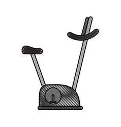 Spinning fitness machine vector