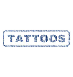 Tattoos textile stamp vector