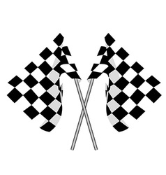 Two finish flag vector