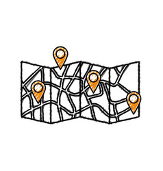 Urban city map vector