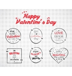 Valentine day watercolor ink splash quote blank vector